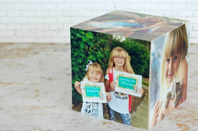I love how easy it is to make this DIY Photo Cube
