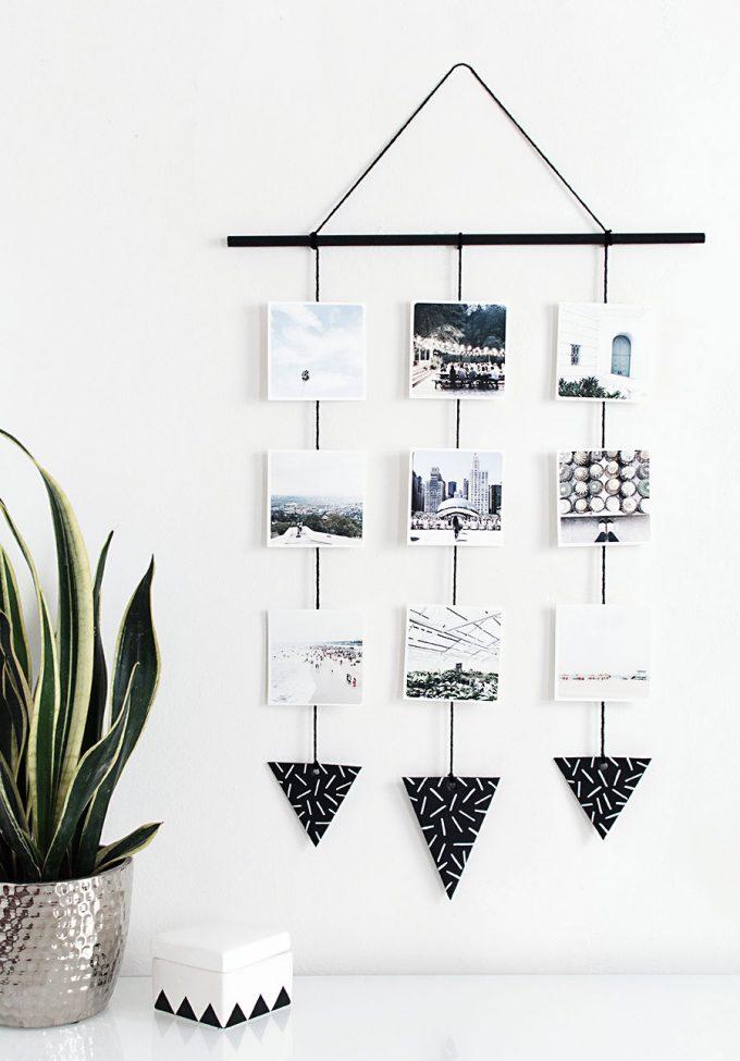 creative photo crafts - wall hanging