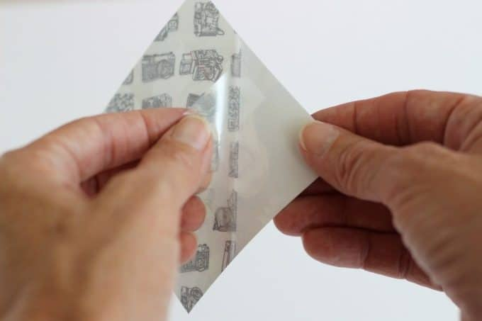 Peel off the adhesive backing.