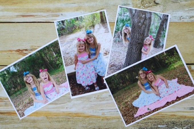Find four pictures to use for your photo coasters