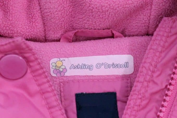 Your kids will need labels in their jackets when they go back to school