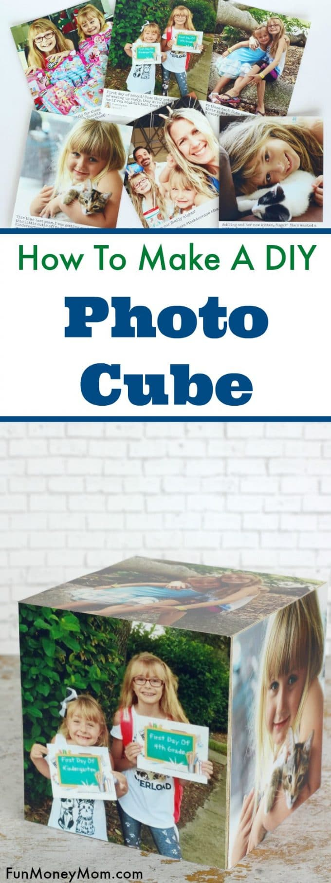 Photos always make the best home decor and this easy DIY photo cube is a fun way to display all your favorite family photos.