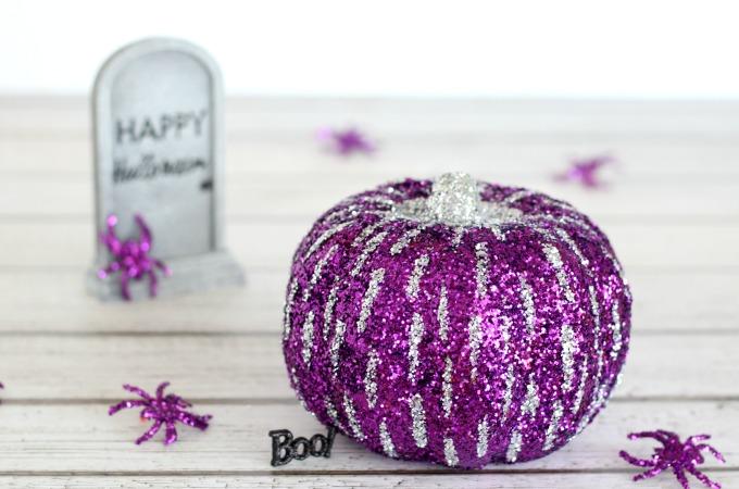 Glitter no carve pumpkin ideas