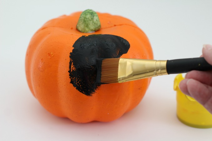 If you use a foam pumpkin for your black cat pumpkin, you can display it every year