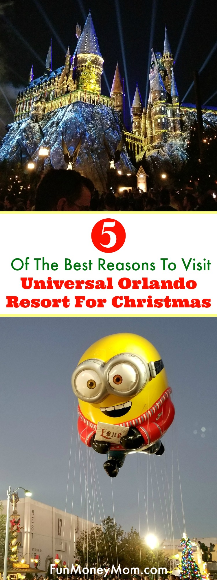 Looking for a fun holiday vacation? Here are five great reasons why you should book that family vacation and celebrate Christmas at Universal Orlando Resort.