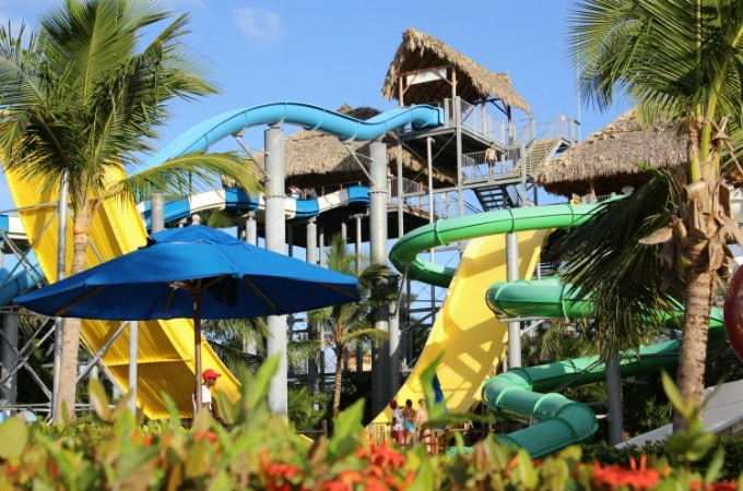 The water park is the largest in the Caribbean