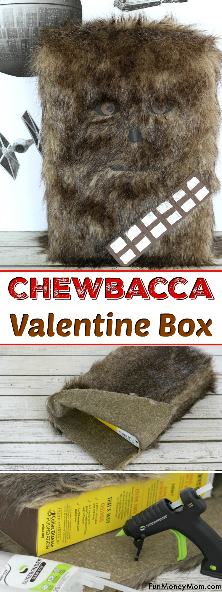 Chewbacca Valentine Box - This Star Wars Valentine Box will be a hit for Valentine's Day. What Star Wars fan wouldn't want a Chewbacca Valentine Box for their school party. They'll have just as much fun making this Valentine craft too! #ValentineBox #Valentinecraft #StarWarsValentineBox #Chewbacca