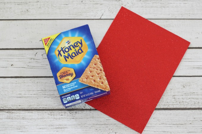This sparkly red foam is perfect for a heart shaped Valentine box