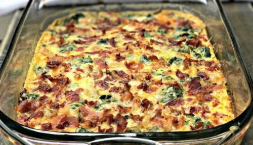 Breakfast casseroles - Bacon, Egg and Spinach Casserole