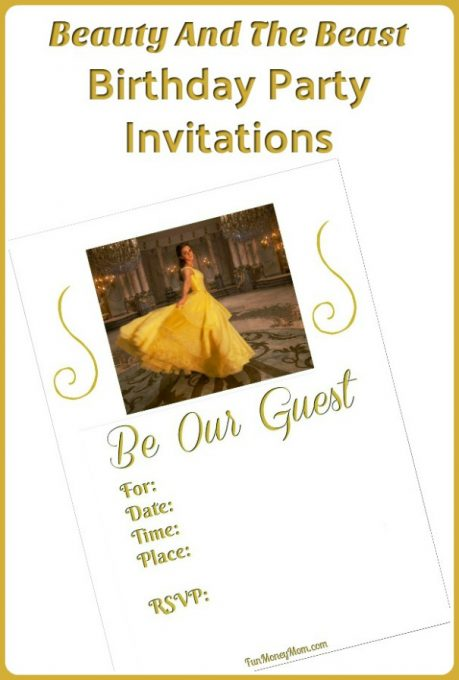 Beauty And The Beast Invitations - Having a Beauty And The Beast party? You'll need birthday invitations and these free printable Belle invitations are perfect. #BeautyAndTheBeast #PartyInvitations #KidsBirthdayParty