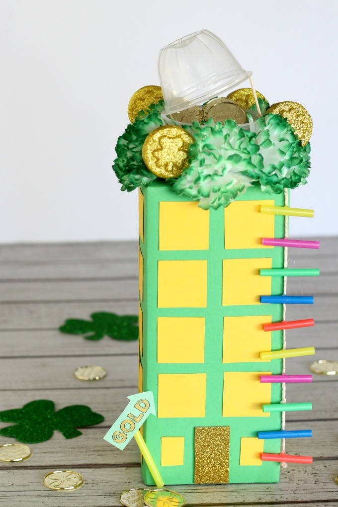 The leprechaun trap is complete. Now you've got what you need to trap a leprechaun.