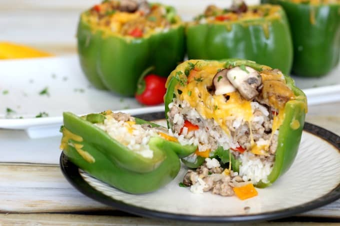 This stuffed bell pepper recipe makes a filling and delicious meal