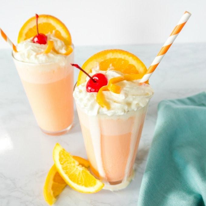 orange creamsicle milkshake