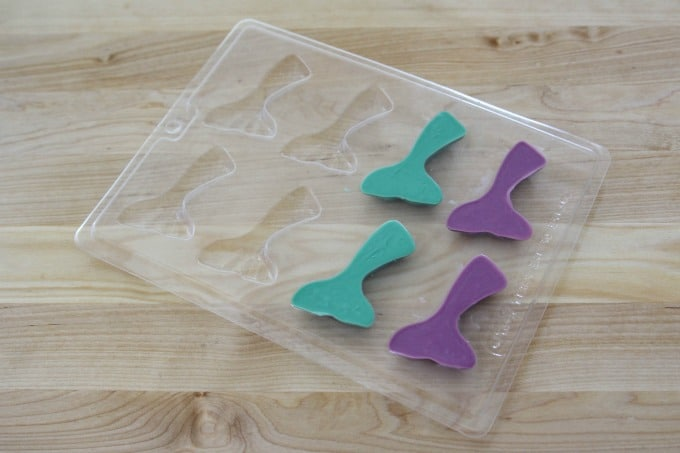 Mermaid tails in candy mold