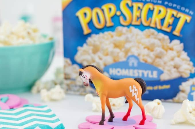 Pop Secret popcorn with Spirit Riding Free toy