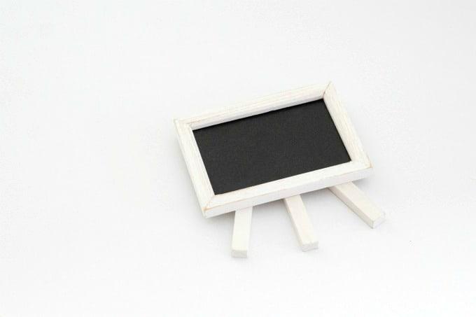 Chalkboard easel for countdown board