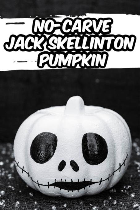 Jack Skellington pumpkin with black background