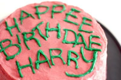Harry Potter cake Hagrid makes in the first movie