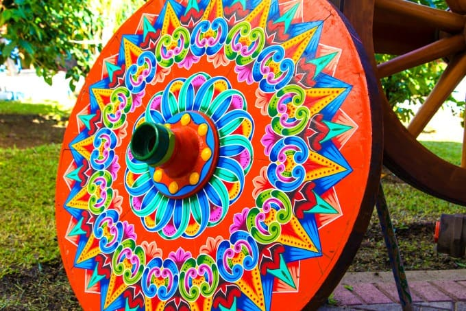 Oxcart wheel in Sarchi