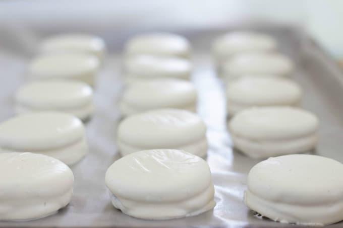 OREO Cookies with white chocolate