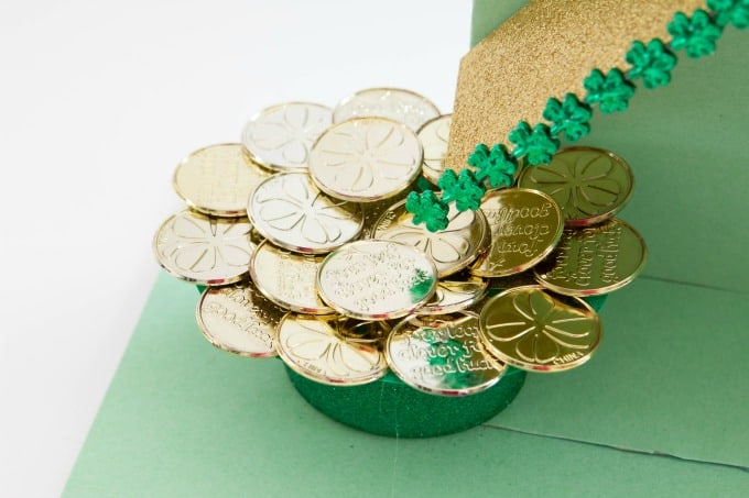 Hat filled with leprechaun gold