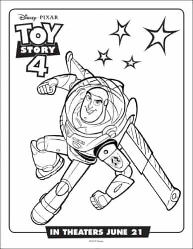 Buzz Lightyear From From Toy Story Coloring Page