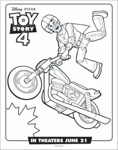 Duke Caboom's Toy Story Coloring Page