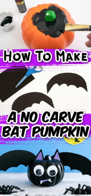 Bat pumpkin tutorial pictures