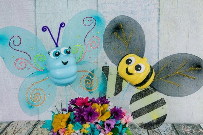 butterfly pumpkin with bumblebee pumpkin