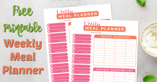 Weekly Meal Planner facebook