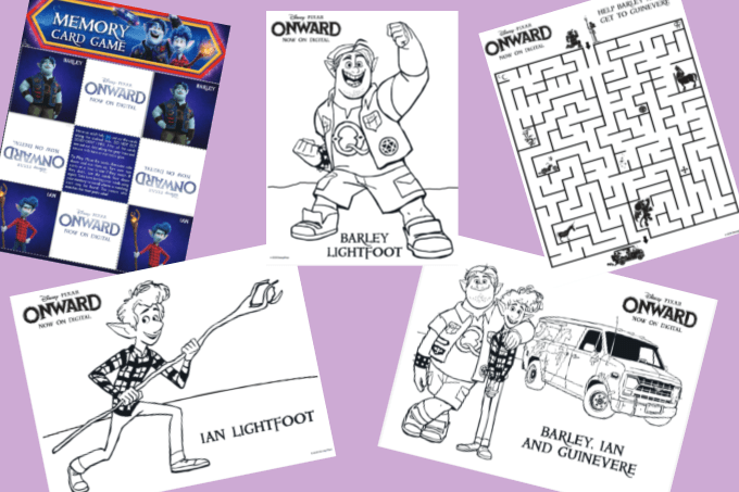 Onward coloring pages and activities