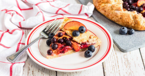 Blueberry peach galette facebook