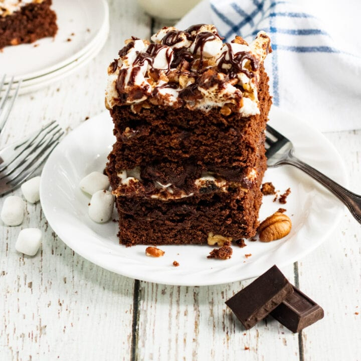 Mississippi Mud Cake for recipe card