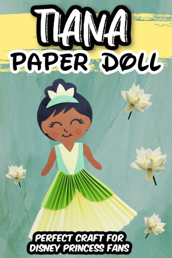 Tiana Paper Doll Craft Pin 4