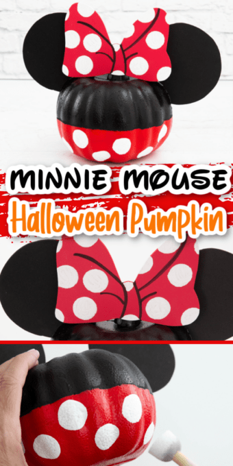 Minnie Mouse pumpkin with tutorial pictures