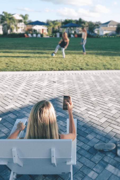 Using the Constant Contact app at the park
