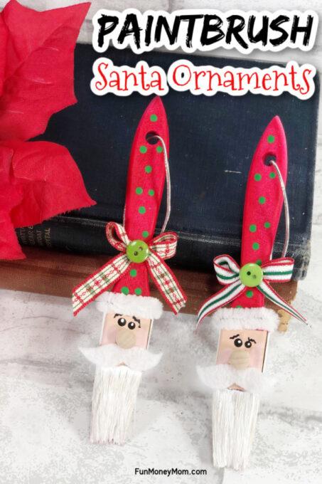 Santa ornament pin