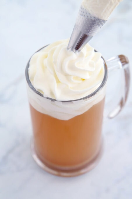 Topping Butterbeer with whipped cream