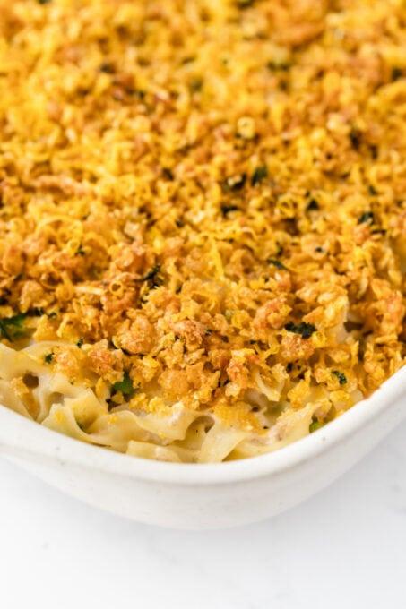 Baked tuna noodle casserole