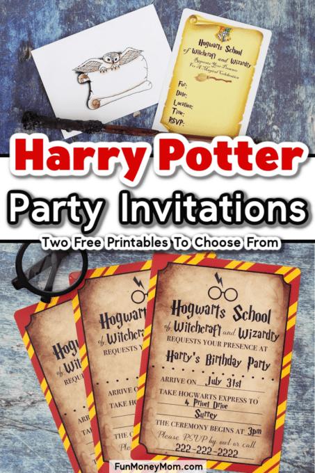Harry Potter Party Invitations