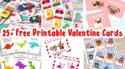 Printable Valentine Cards feature
