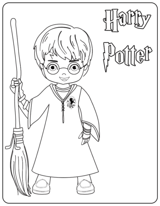 1- Harry Potter Coloring Page