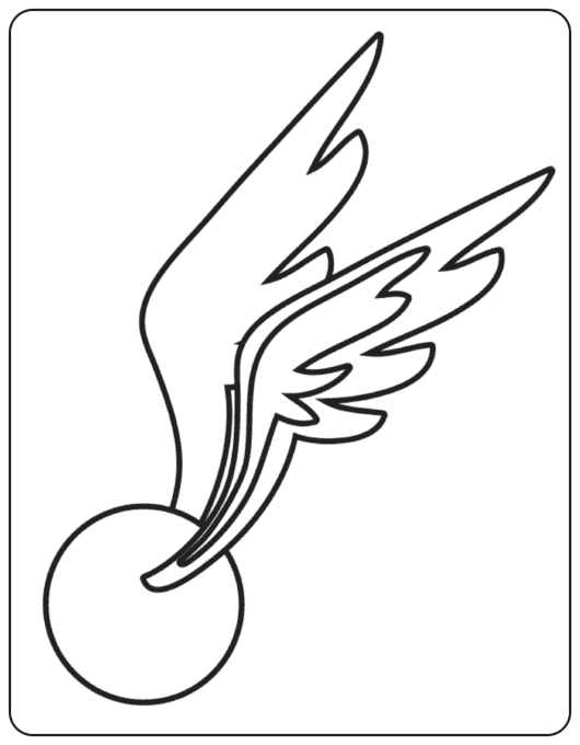 Golden snitch coloring page