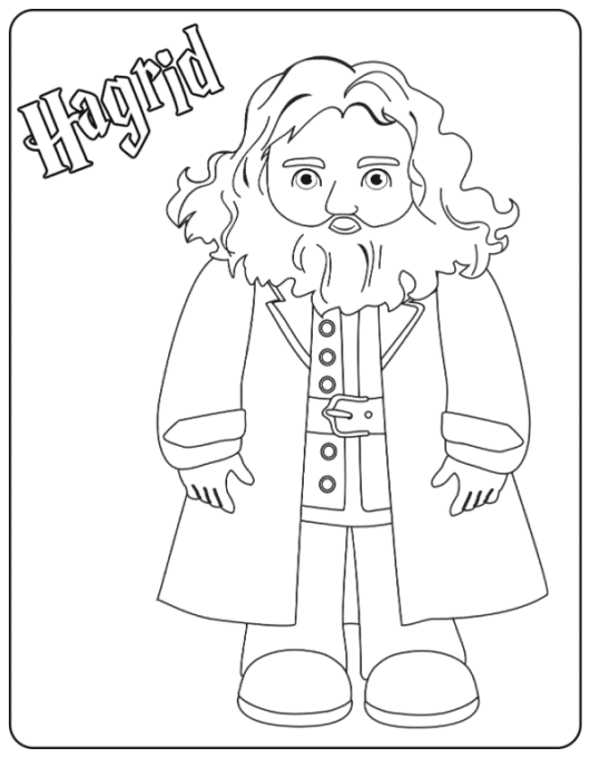 Hagrid coloring page