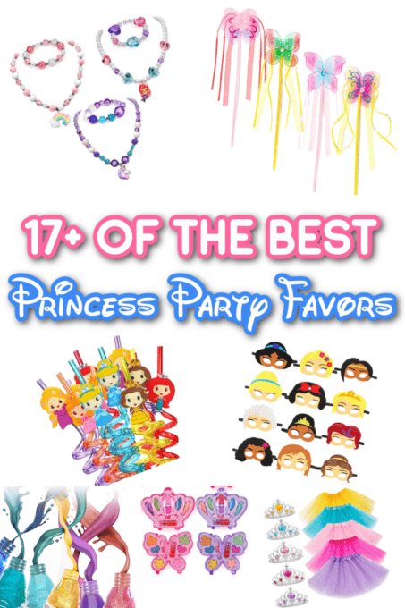 Party favors for a princess party