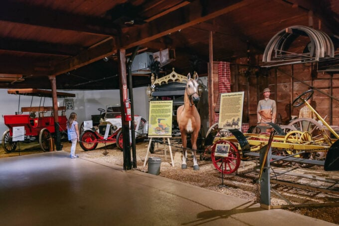 History of cars at car museum