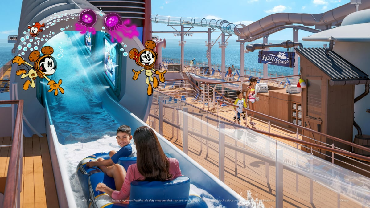 The Aquamouse on the Disney Wish cruise ship