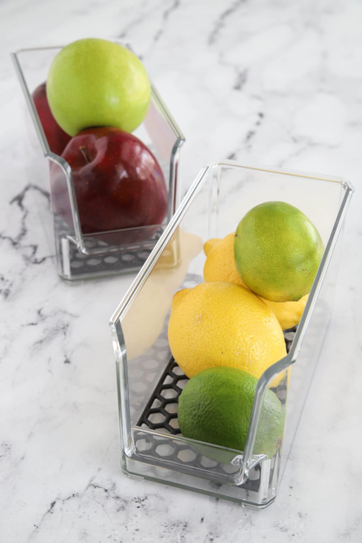 Fruit in HEXA bins