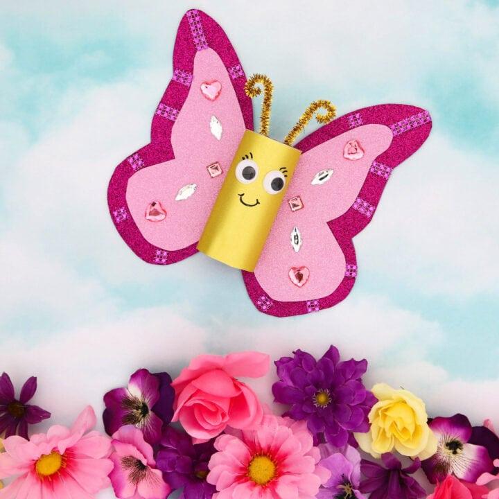 Glitter Butterfly Craft sq