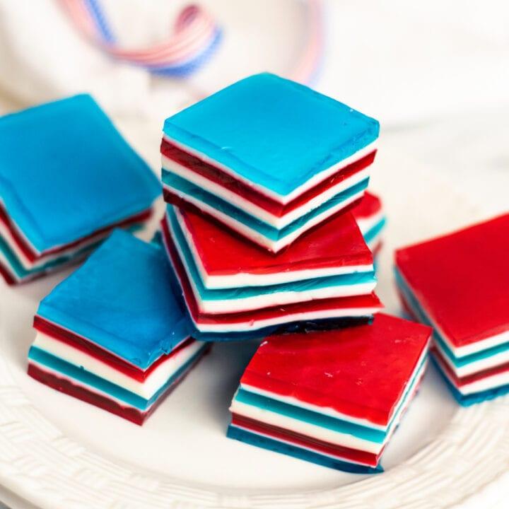 Red, White and Blue Jello